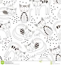 Cute Cats Colorful Seamless Pattern Background. Kid ...