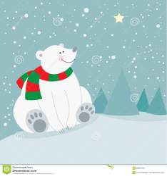 polar bear christmas holiday natale leuke kerstmisvakantie ijsbeer sveglia orso polare festa star
