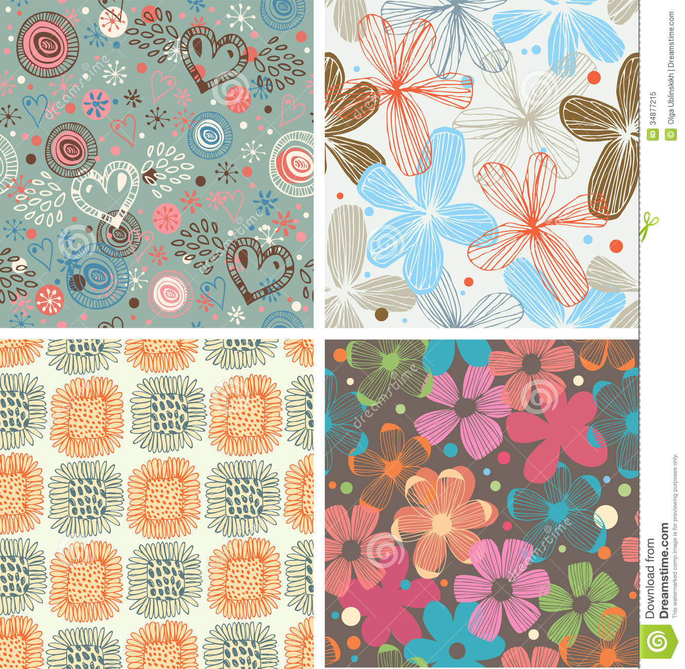Cute Patterns For Wallpaper Cute Collection Of Floral Patterns Set Of Beautiful
