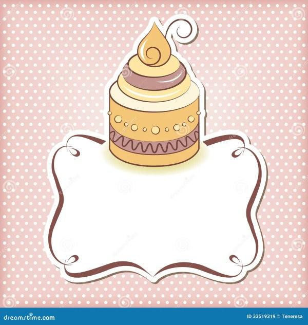 cute cupcake frame royalty free