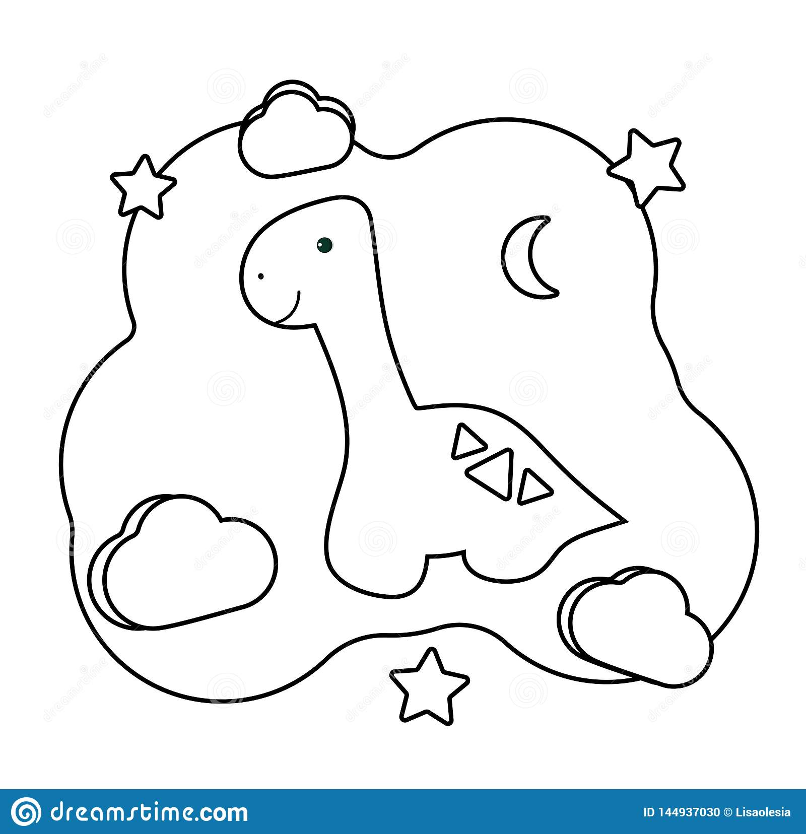 Cute Dino Coloring Page With Dinosaur Printable Game On