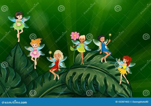 Cute Fairies Stock Vector. Illustration Of Garden Dream