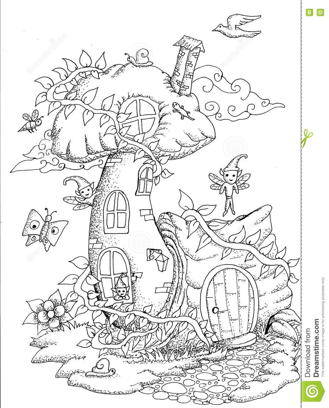 Cottage Coloring Book Coloring Pages