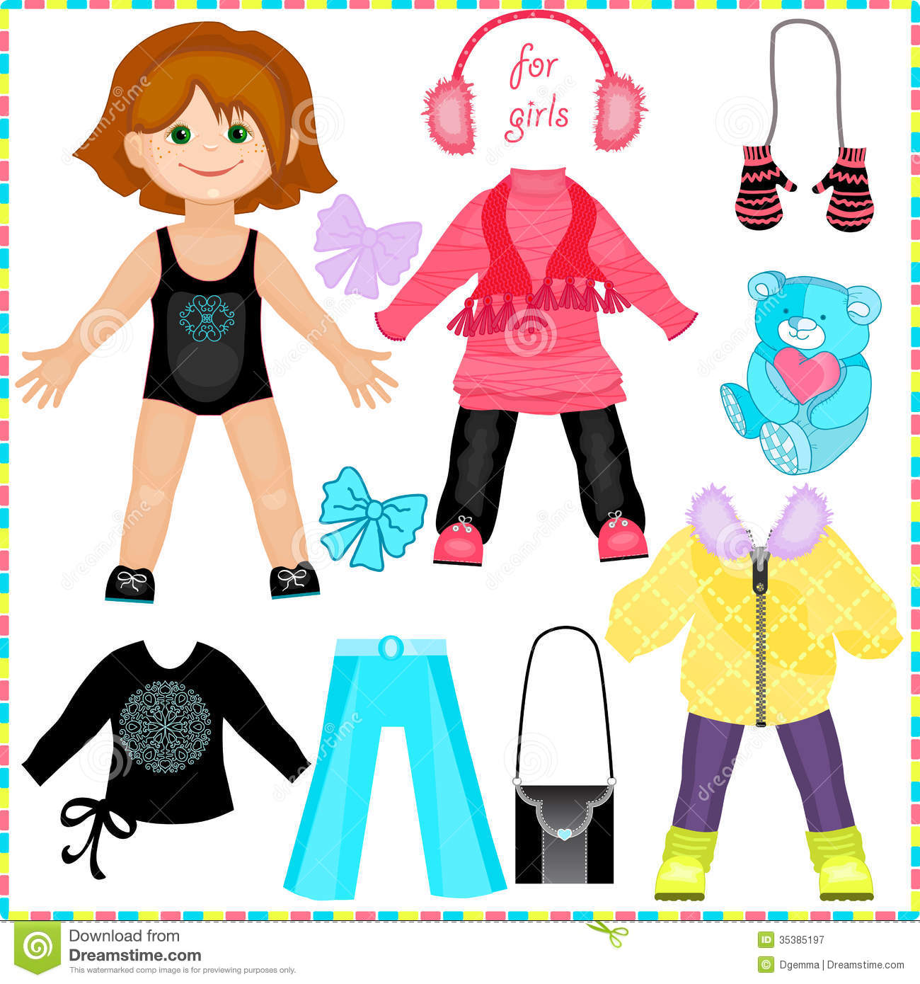 Cute Fashion Girl Royalty Free Stock Photography
