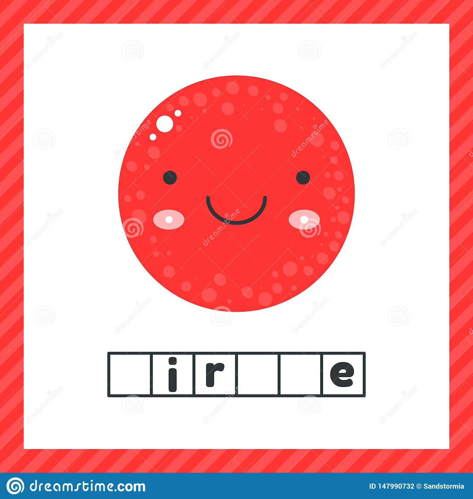 Cute Geometric Figures For Kids Red Shape Circle Isolated