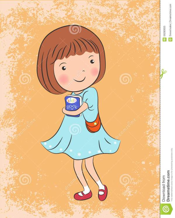 Cute Girl Vector Illustration Stock - 59280655