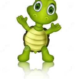 cute green turtle cartoon [ 930 x 1300 Pixel ]