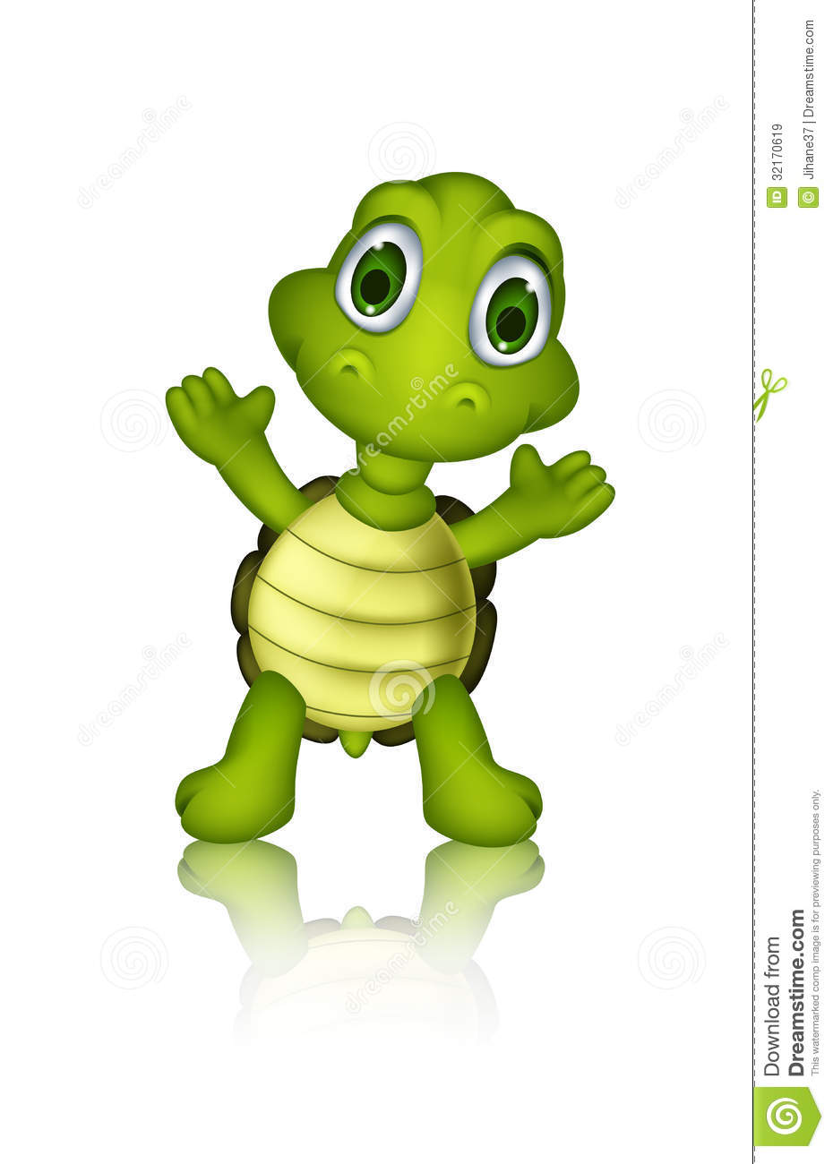 hight resolution of cute green turtle cartoon