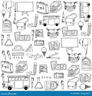 doodles draw hand supplies chemistry illustration drawn math theme