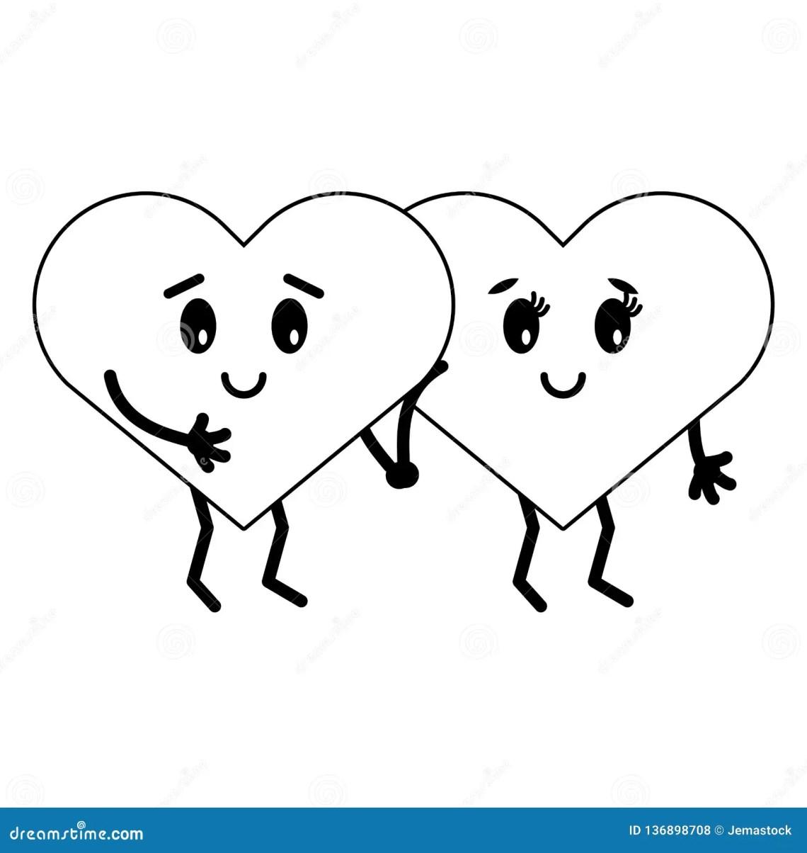 Download Cute Hearts In Love Cartoons Stock Vector - Illustration ...