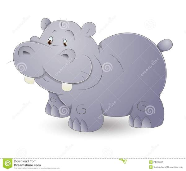 Cute Hippo stock vector Illustration of joyful baby