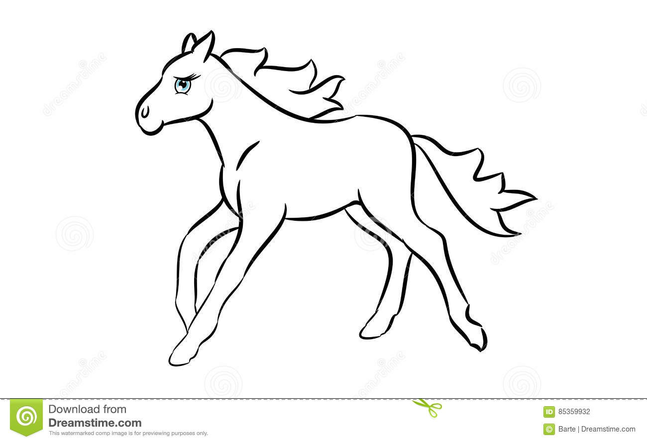 Cute And Easy Drawings Of Horses Animals To Draw Easy Cute Easy
