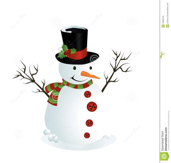 Cute Illustration Of Snowman Royalty Free Stock