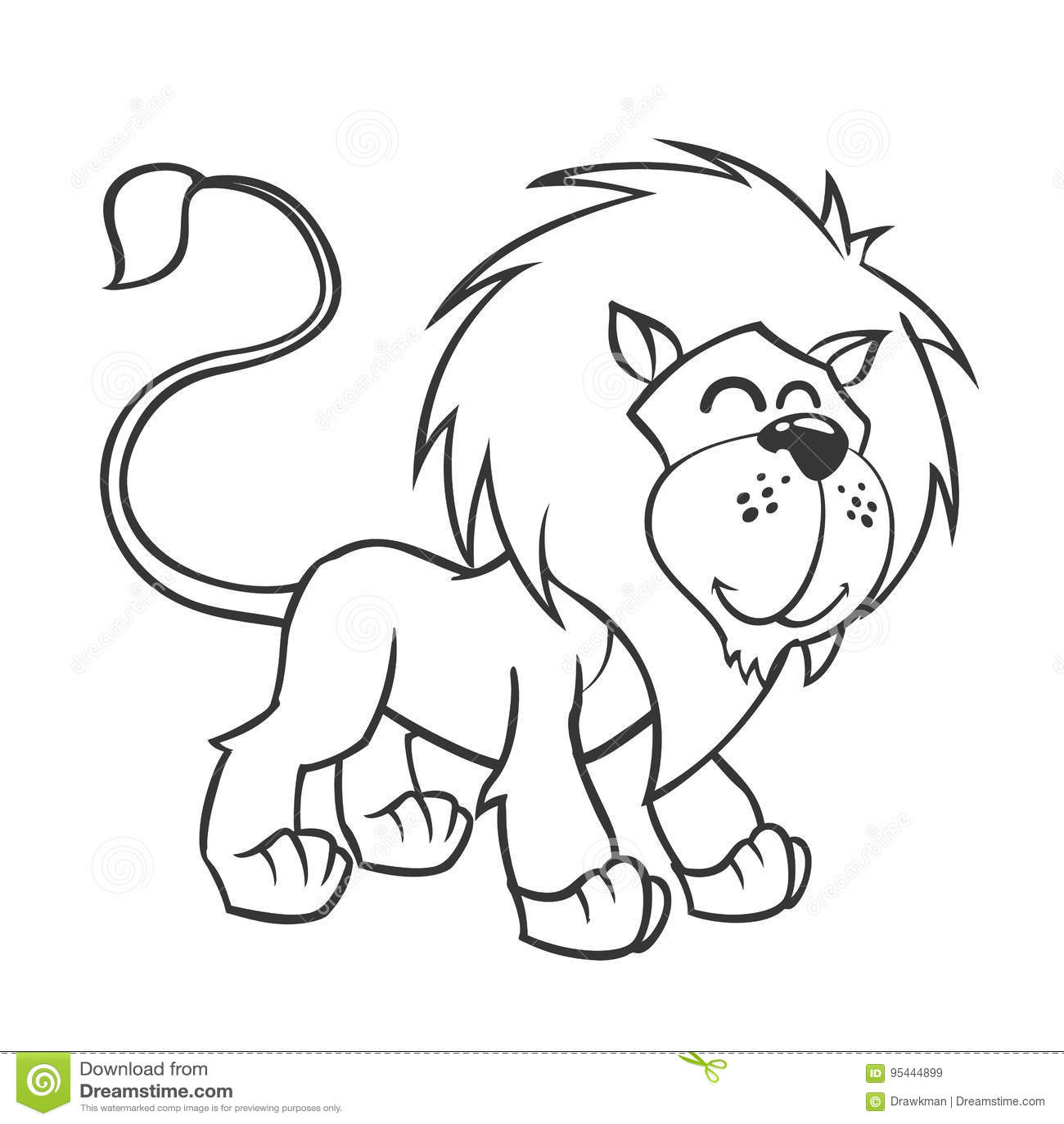 Cute Lion Vector Illustration Of Cute Cartoon Lion