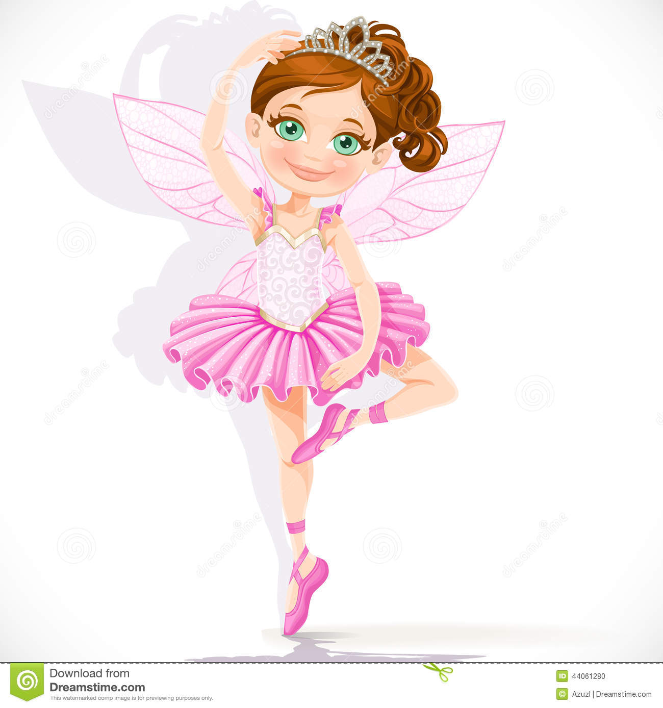 Cute Little Baby Girl Wallpapers Cute Little Fairy Girl In Pink Tutu And Tiara Stock Vector