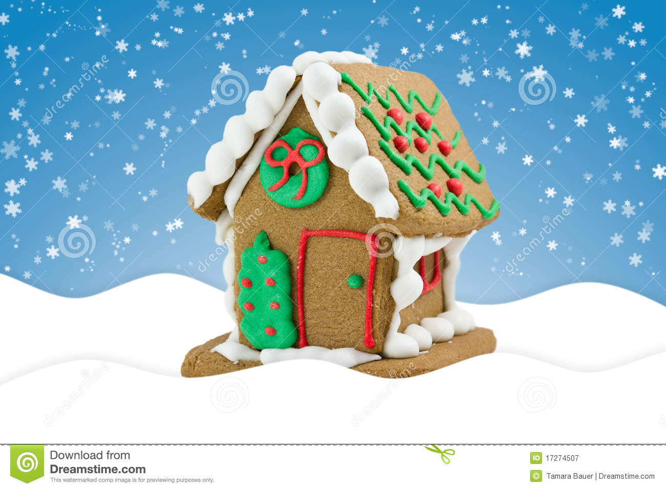 Cute Gingerbread Wallpaper Cute Little Gingerbread House Stock Image Image Of
