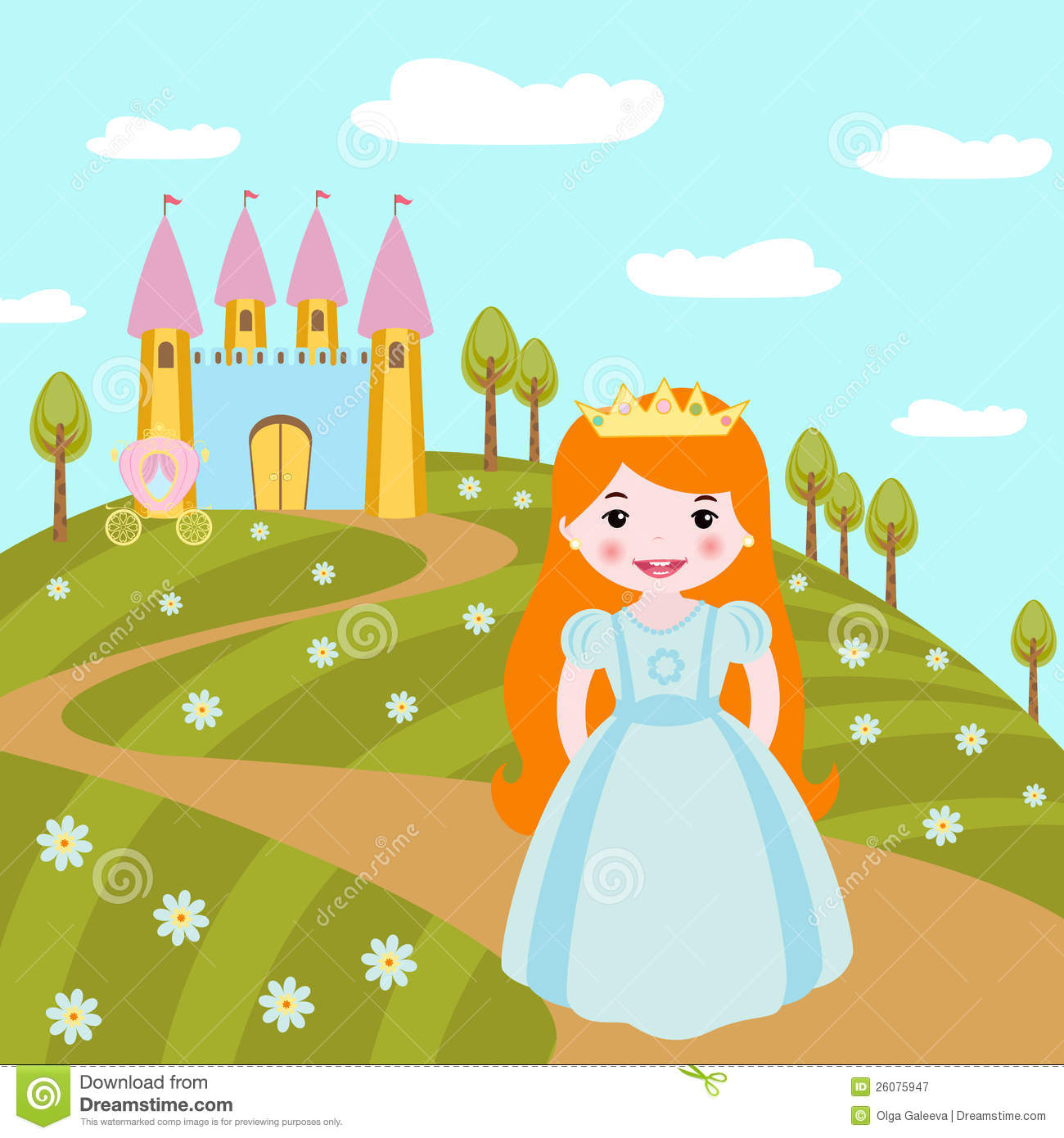 Cute Paper Wallpaper Cute Little Princess Royalty Free Stock Photography