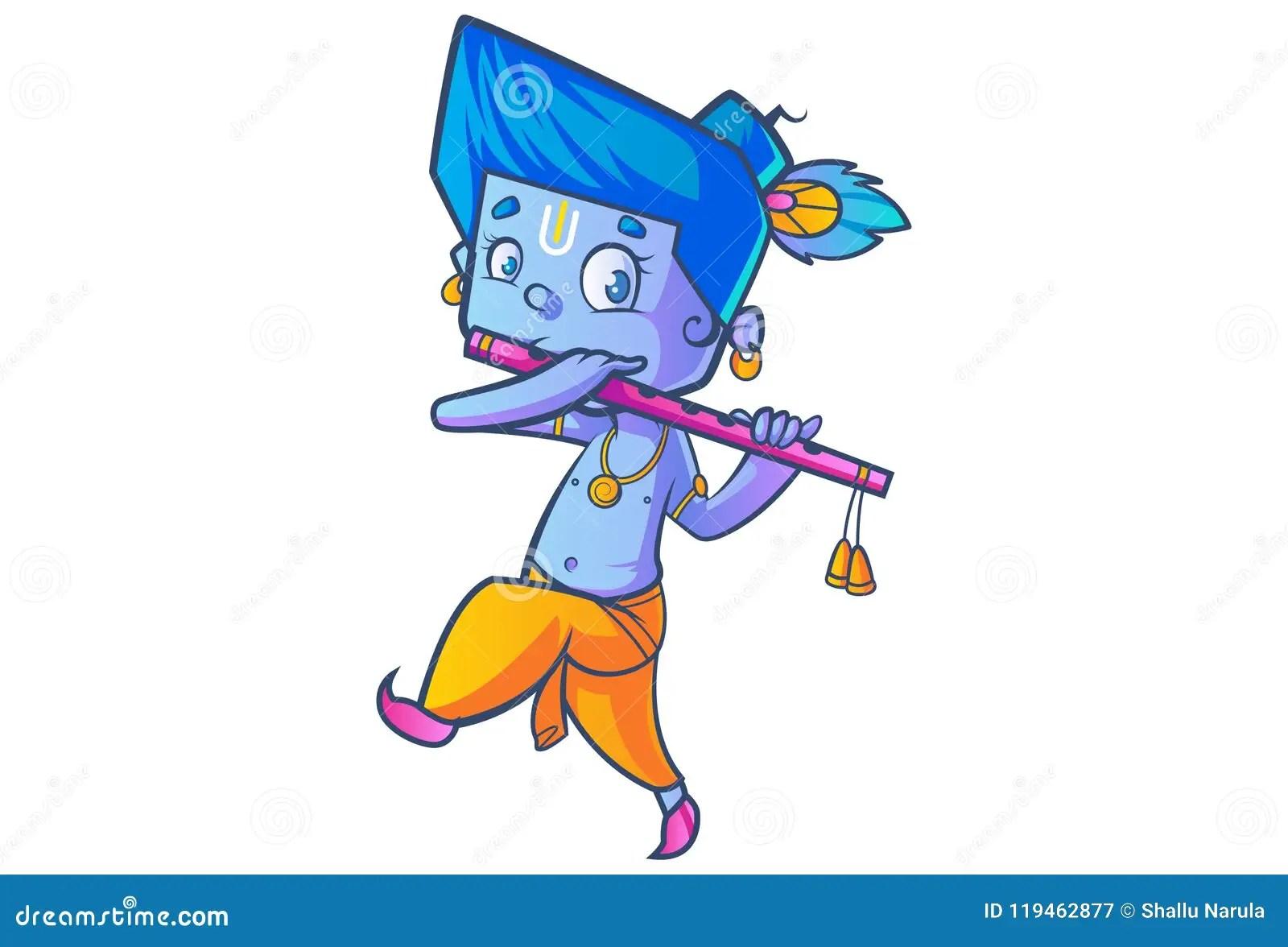 cute lord krishna stock