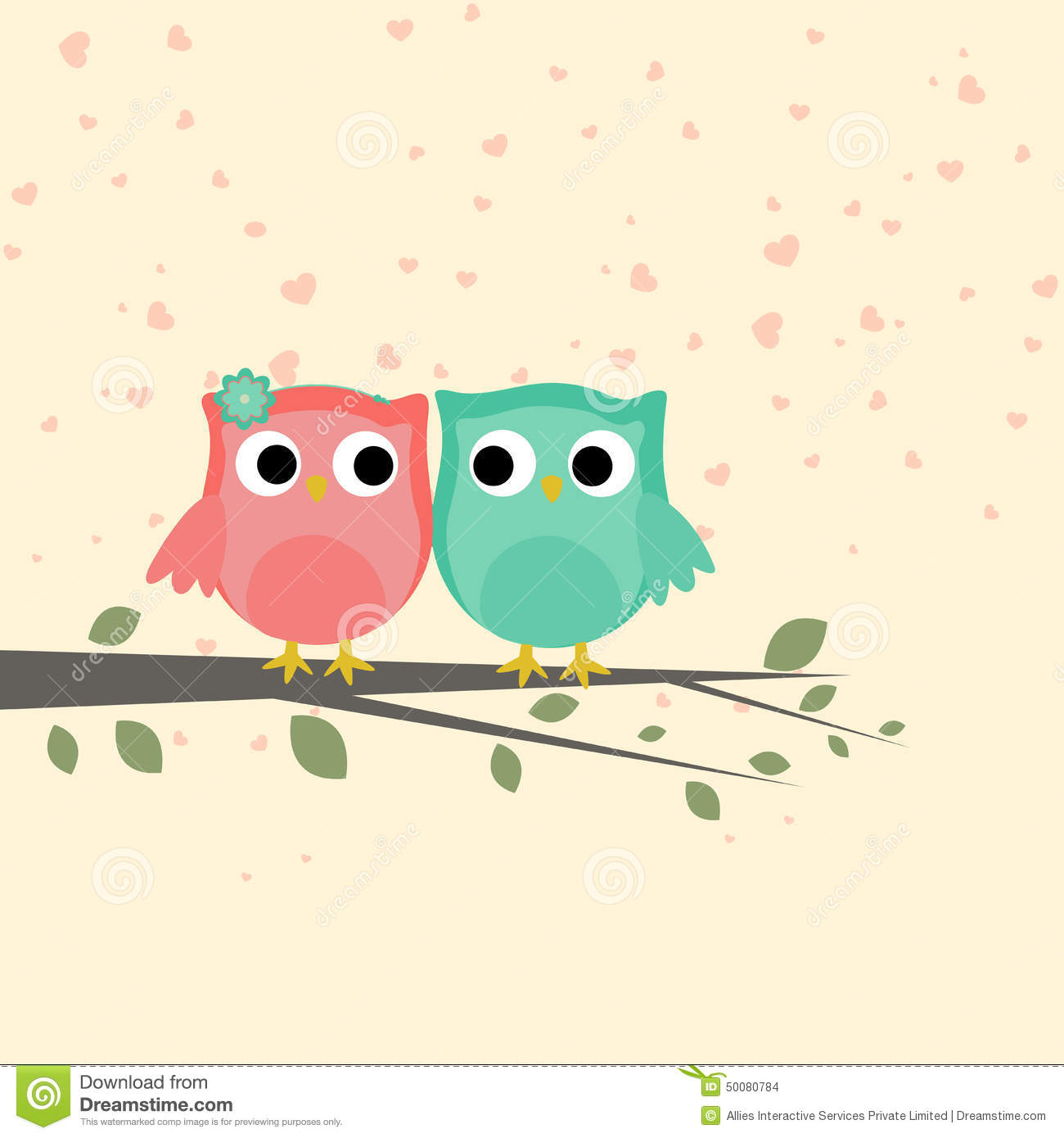 Cute Love Bird Couple For Valentines Day Stock