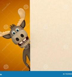 cute moose cartoon animal zoo forest [ 1300 x 957 Pixel ]