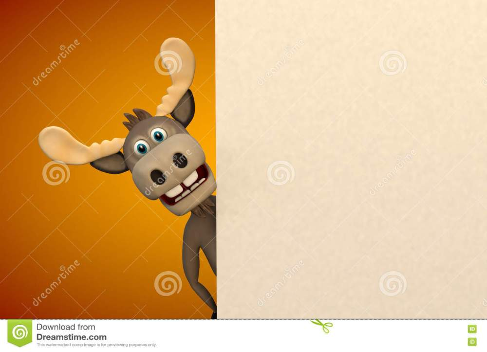 medium resolution of cute moose cartoon animal zoo forest