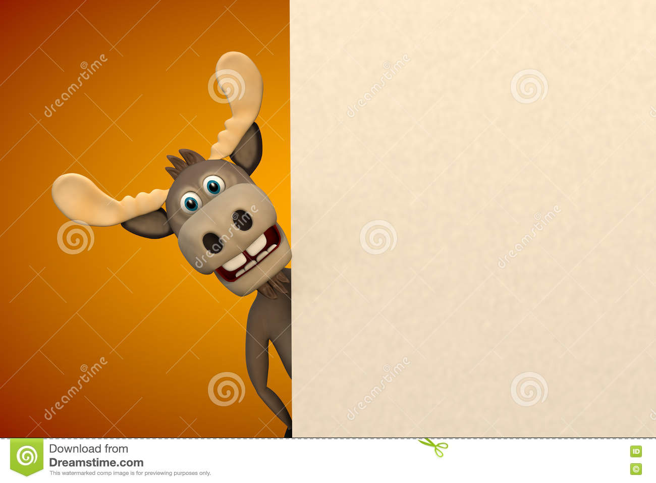 hight resolution of cute moose cartoon animal zoo forest