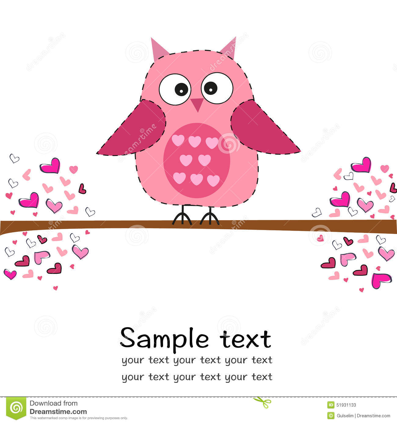 Cute Newborn Baby Girl Wallpaper Cute Owl With Heart Baby Shower Greeting Card Stock