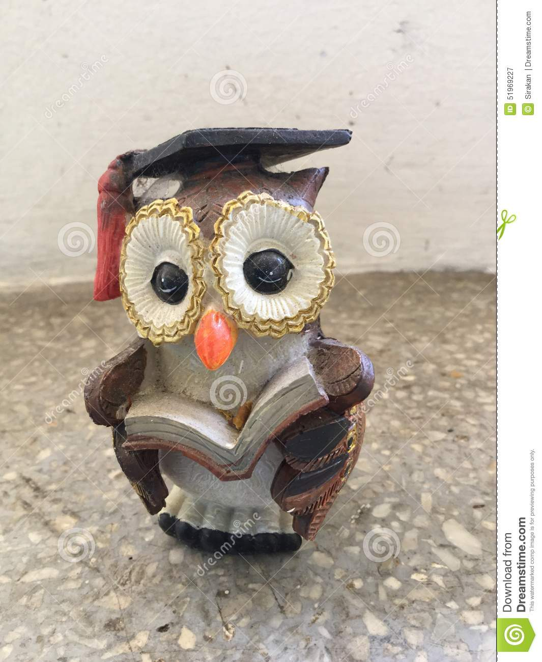 Cute Owl Decor Cute Owl Statue Stock Image Image Of Clay Carved Brown 51969227