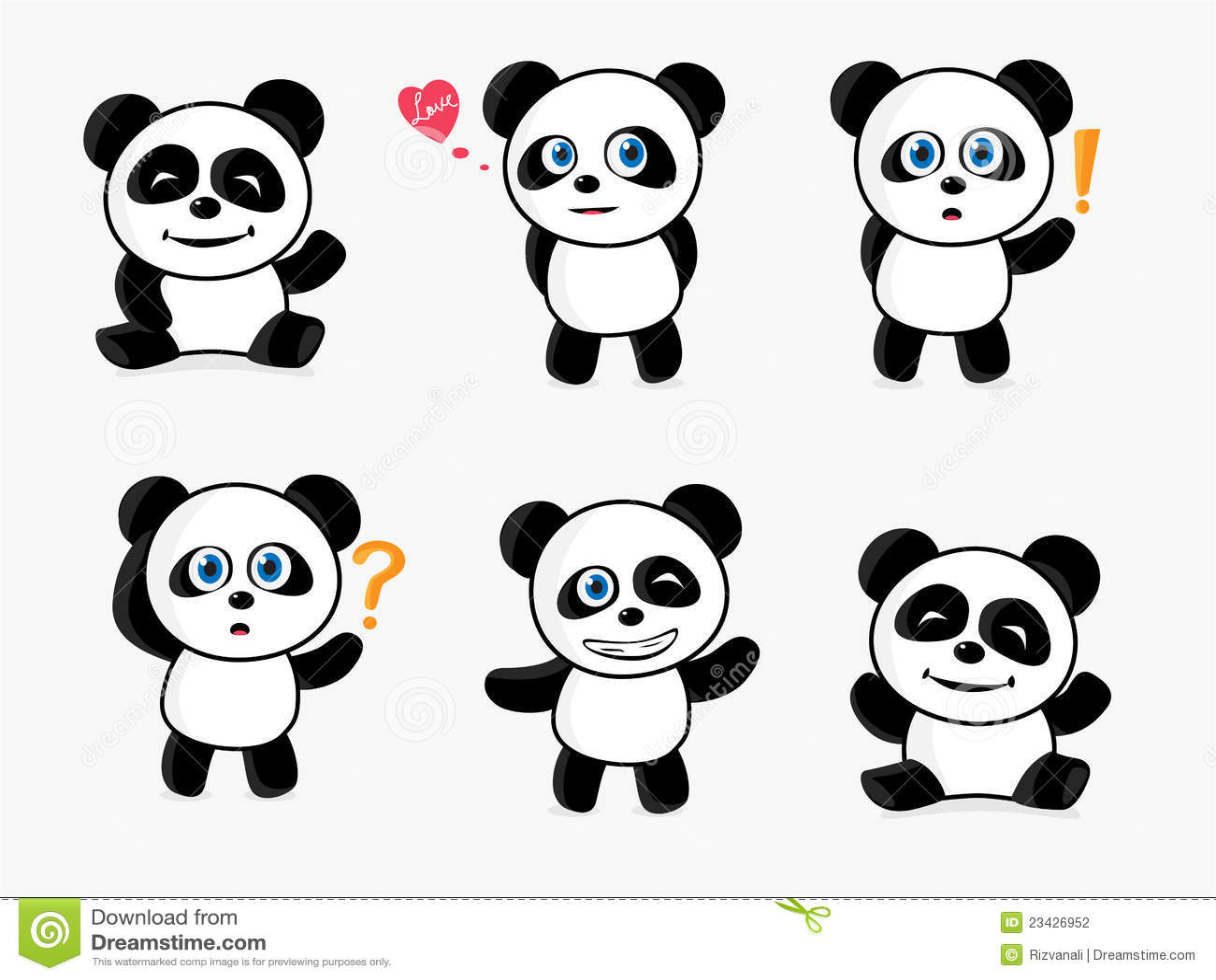 Cute Panda Stock Vector Image Of White Vibrant Colorful