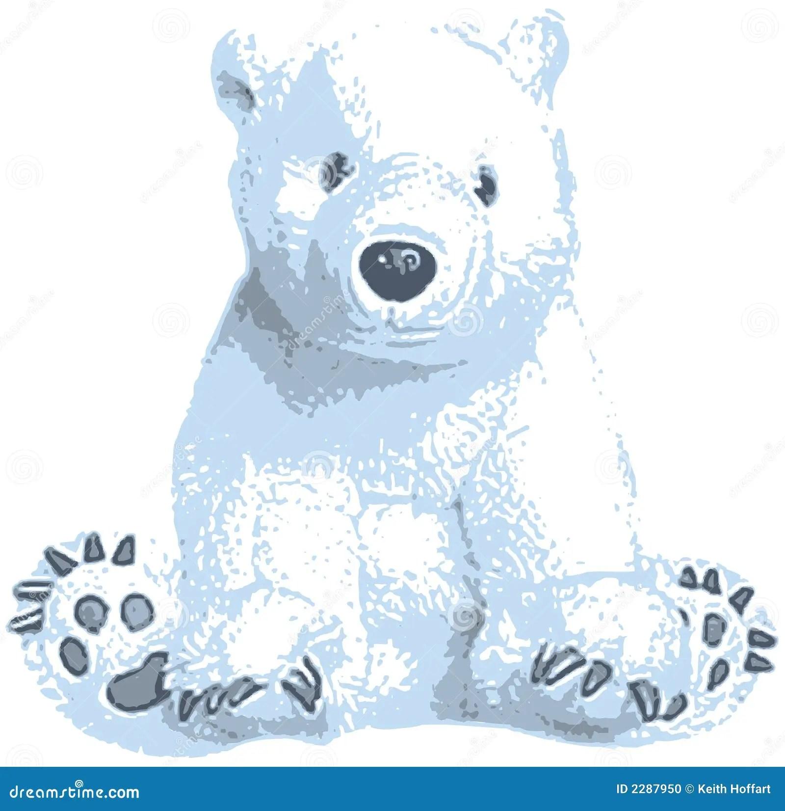 cute polar bear clip