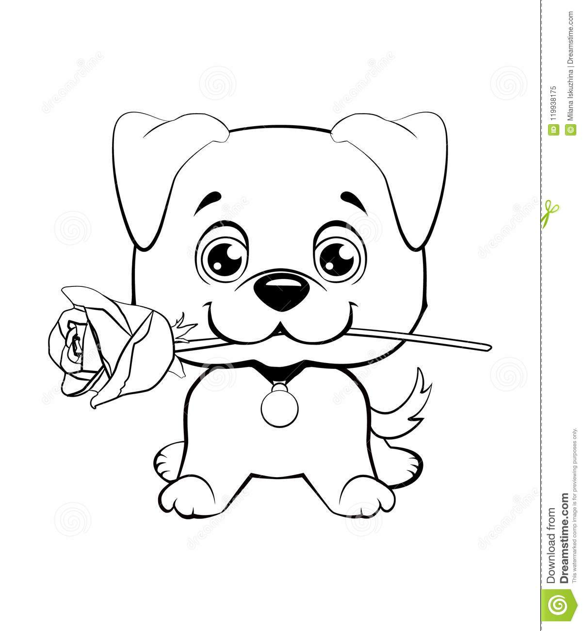 Baby Cute Dog Drawing For Kids Easy Drawing