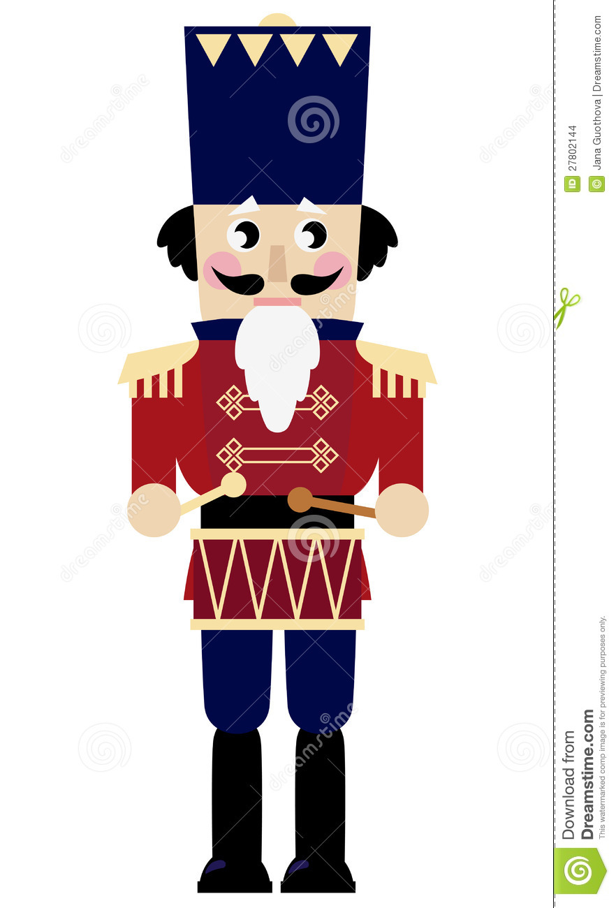 Cute Retro Nutcracker Stock Vector Illustration Of