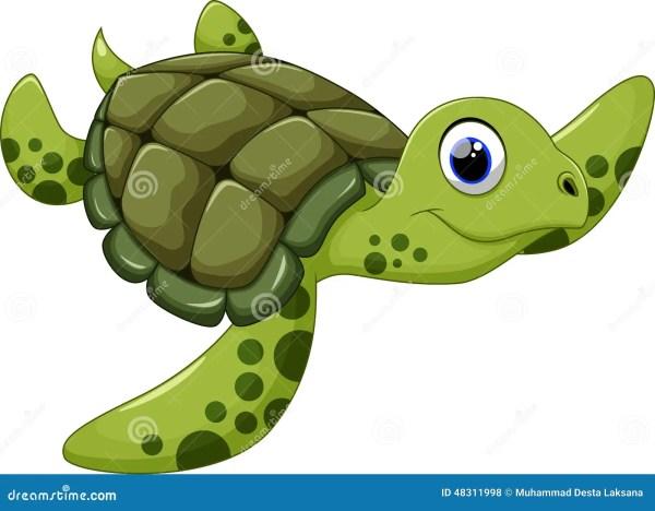 cute sea turtle cartoon stock illustration