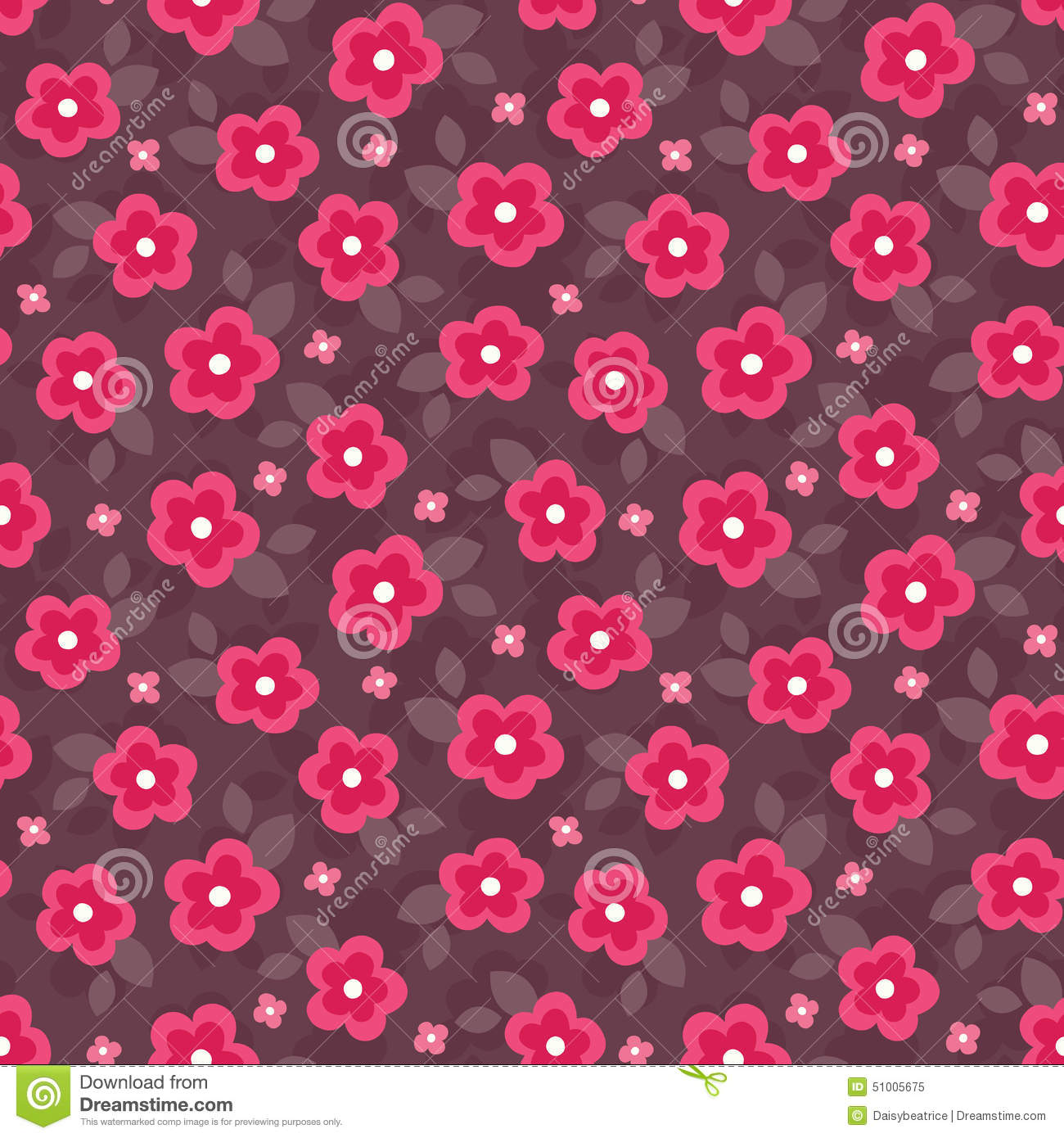 Sweet Girl Wallpaper Free Download Cute Seamless Floral Pattern In Pink And Red Stock Vector