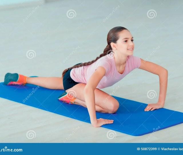 Cute Teenage Girl At Sports Club