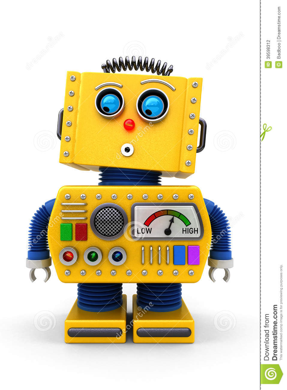 cute toy robot looking