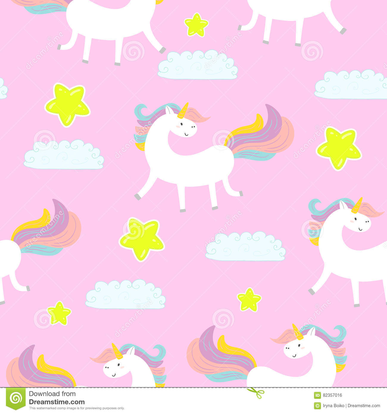 Cute Doodle Wallpaper Hd Cute Unicorn On A Pink Background Vector Pattern Stock