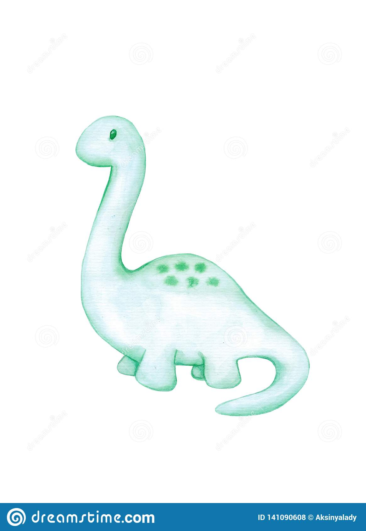 Cute Dino Wallpaper Cute Little Watercolor Dinosaur Isolated Stock