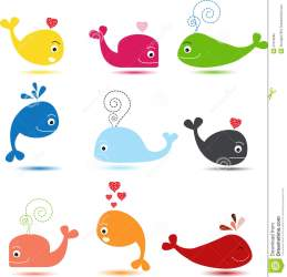 whale cartoon cute collection illustration vector preview