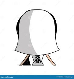 cute wife back avatar character [ 1300 x 1390 Pixel ]