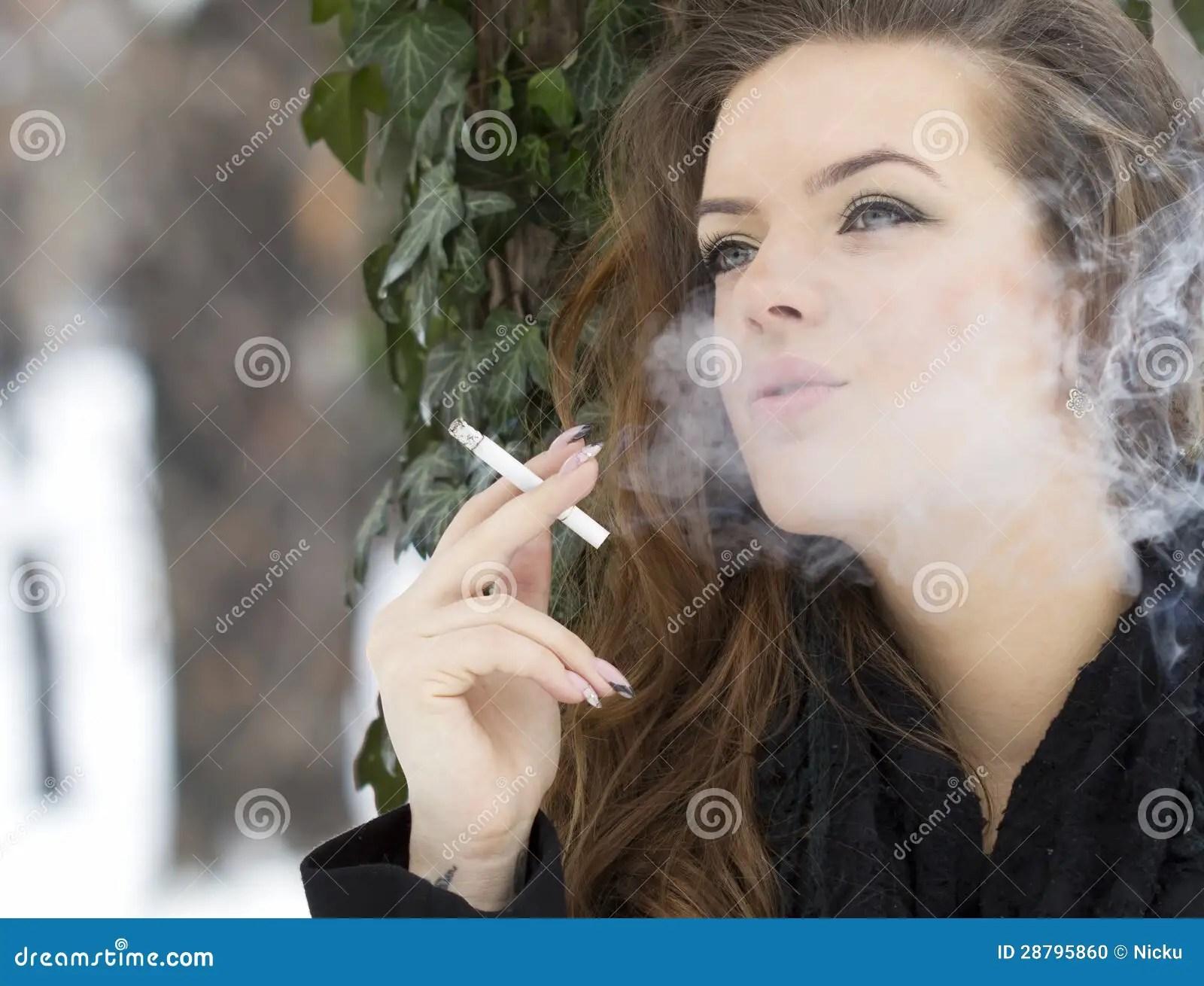 Drunk Girls Hd Wallpaper Cute Woman Smoking Detail Stock Photo Image 28795860