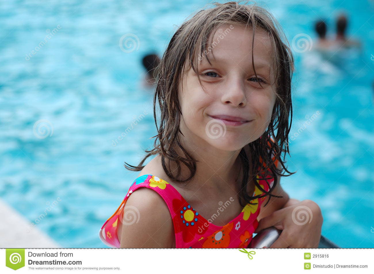 Cute Young Girl By Pool Royalty Free Stock Image - Image: 2915816