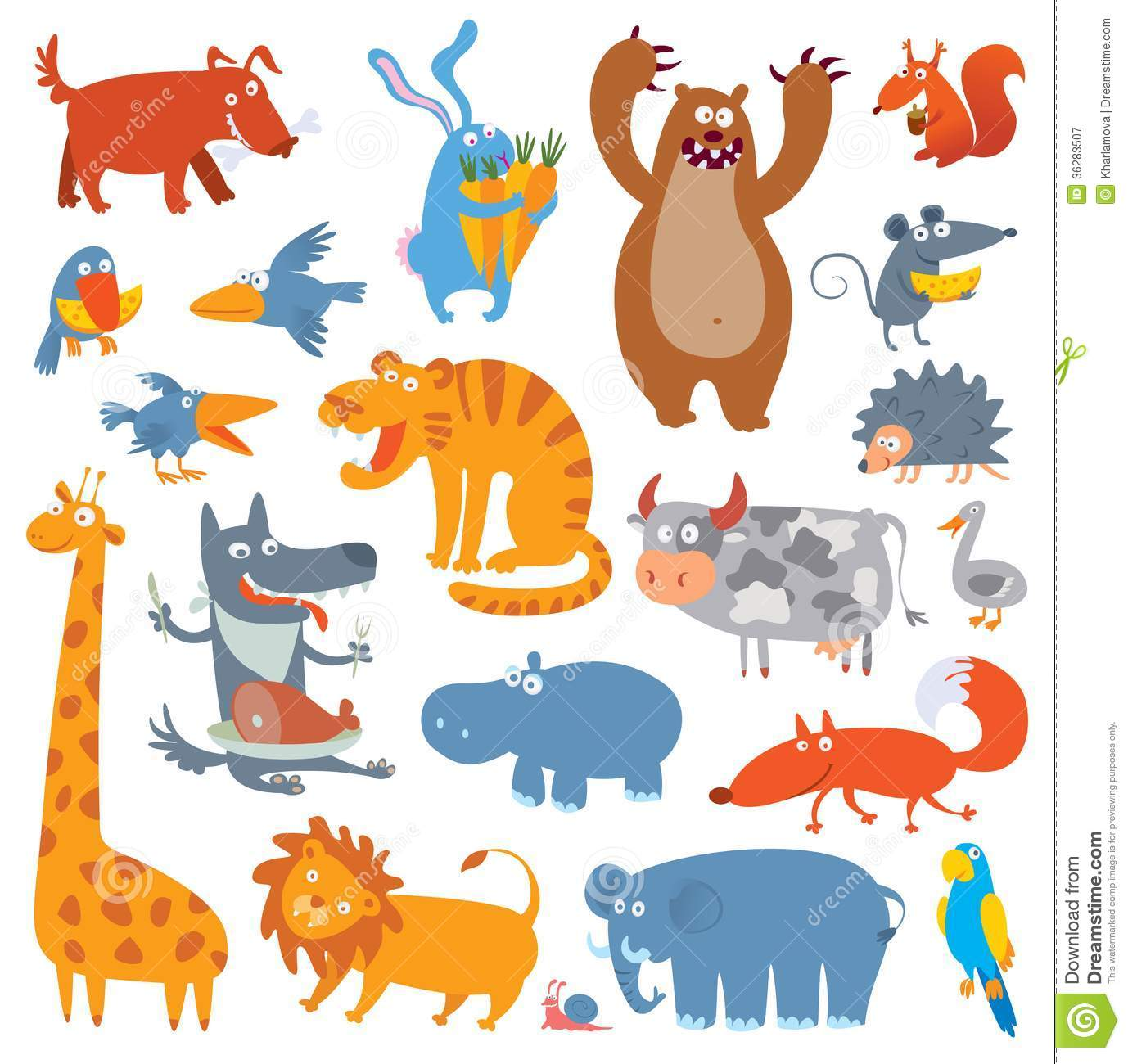 Cute Zoo Animals Royalty Free Stock Photography  Image