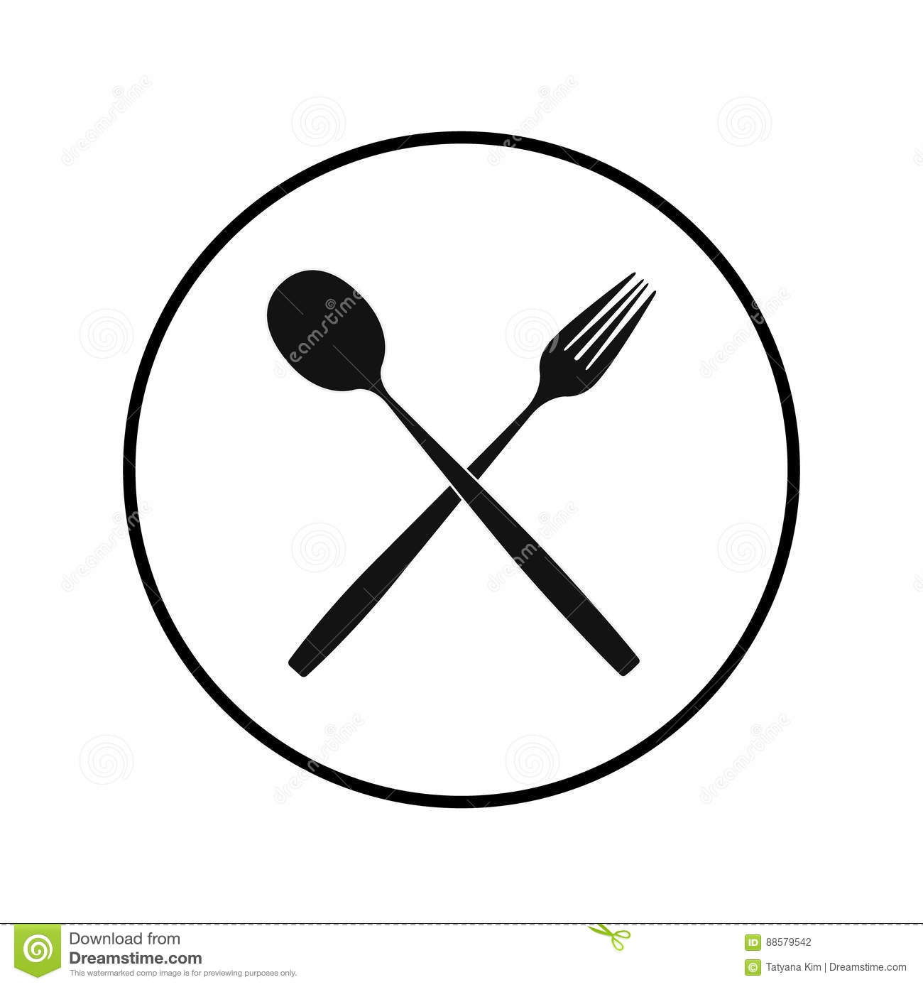Cutlery On A Transparent Background Fork Knife And Spoon