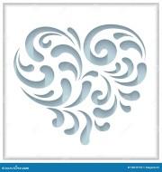 cutout paper heart stock vector