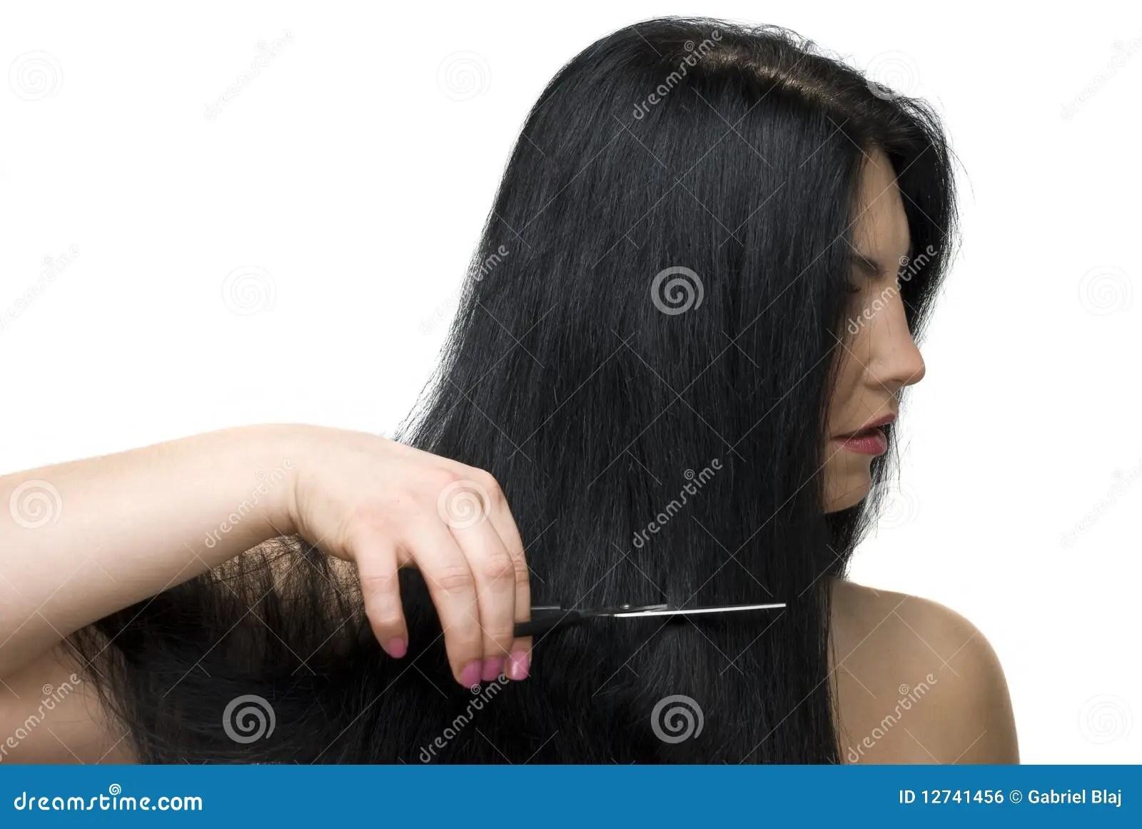 Cutting Long Hair Royalty Free Stock Image  Image 12741456