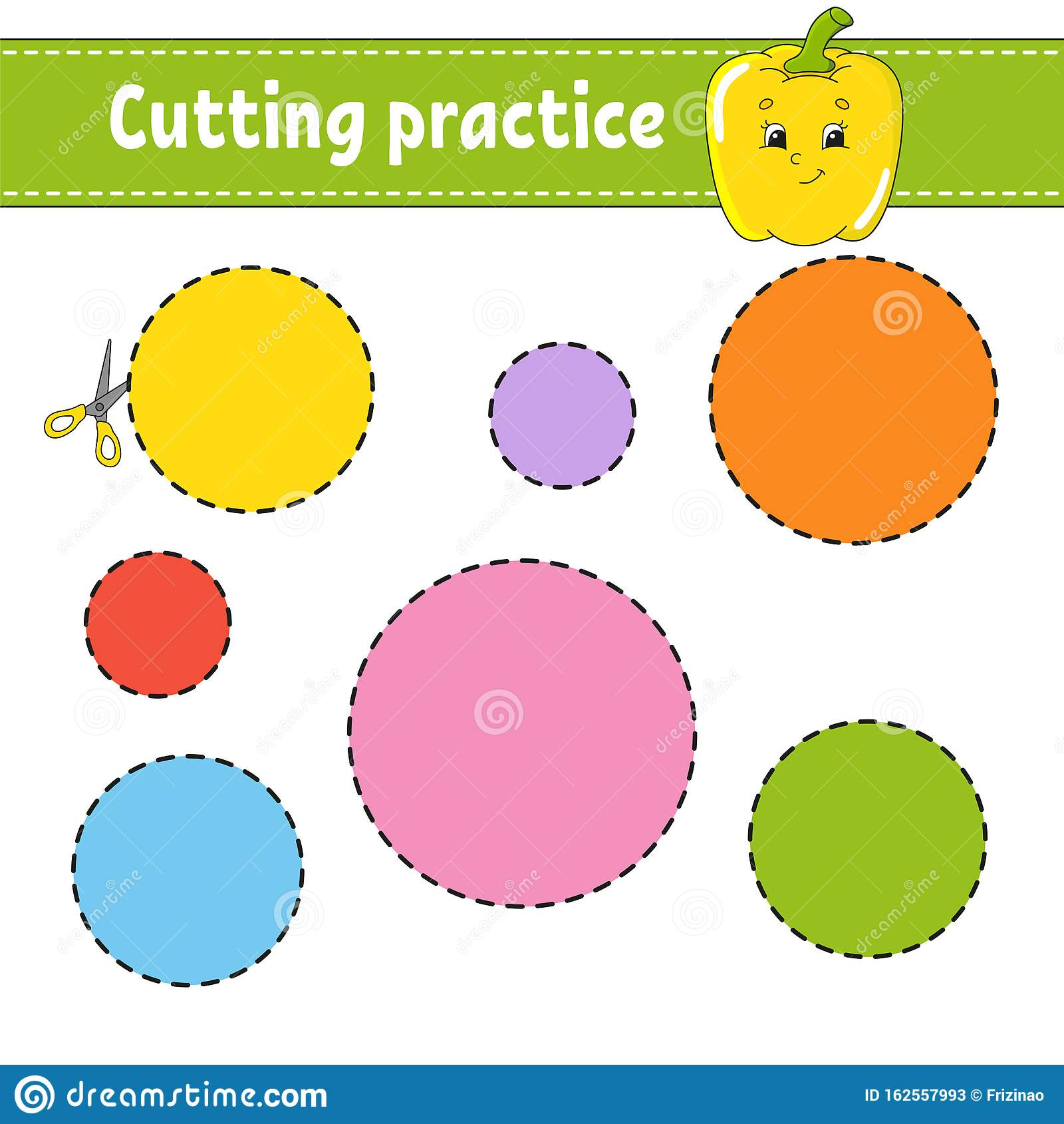 Cutting Practice For Kids Education Developing Worksheet