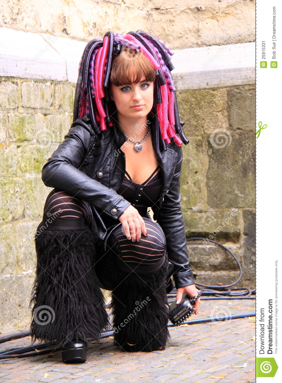 Cyber Gothic Girl Street Editorial Photo Image 25915331