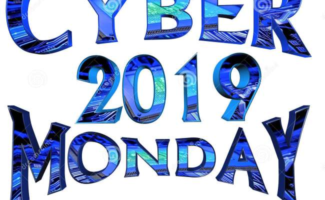 Cyber Monday 2019 Text On White Background Stock