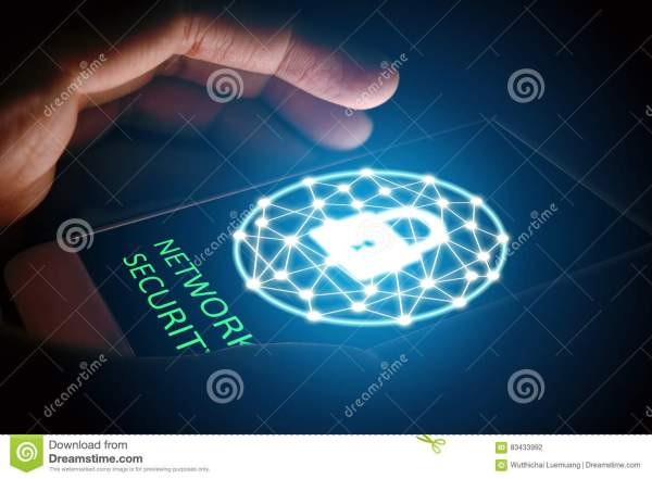 Cyber Security Network Concept Security. Stock